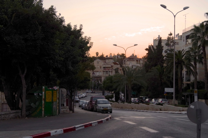 Arriving in Jerusalem in the early evening.