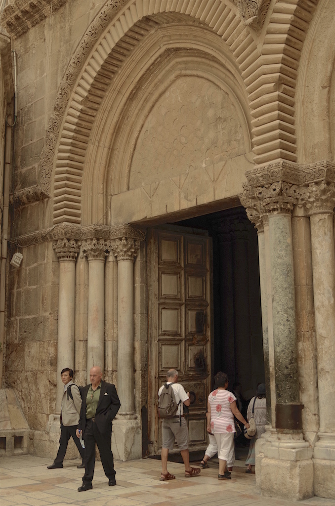 The door to the church.