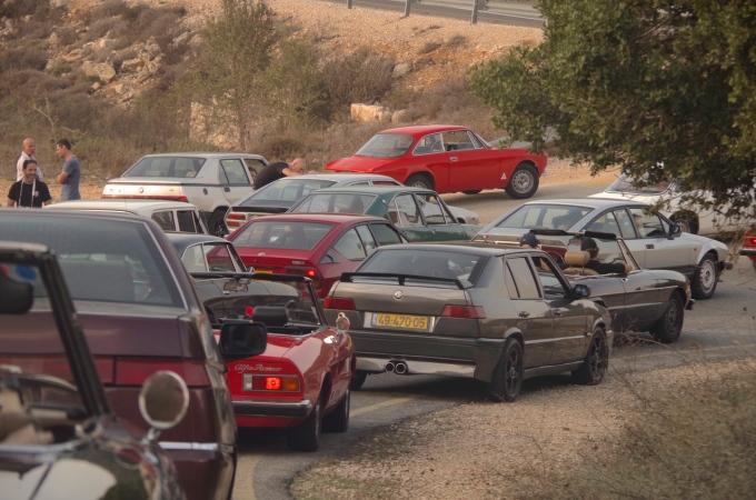 A swarm of Alfa Romeos.