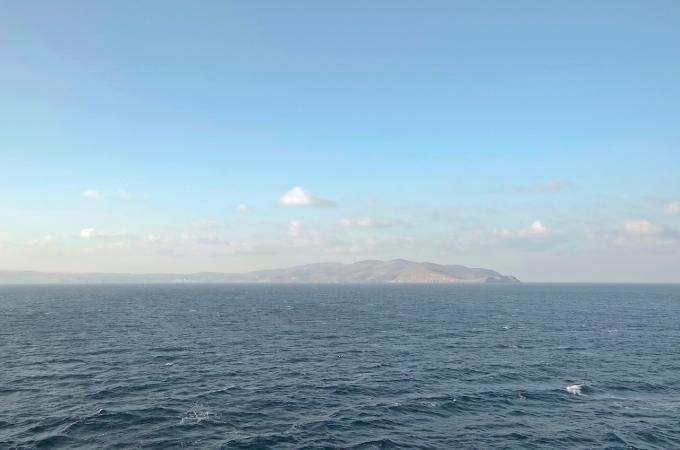 Passing Greek islands.