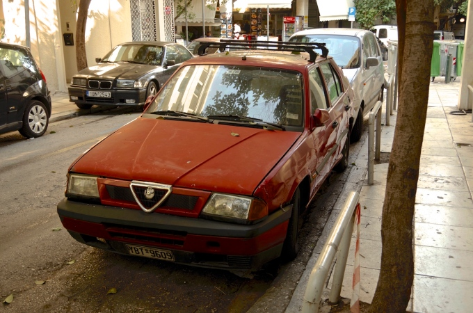 A rather sad looking Alfa 33, from the darker days of Alfa Romeo.