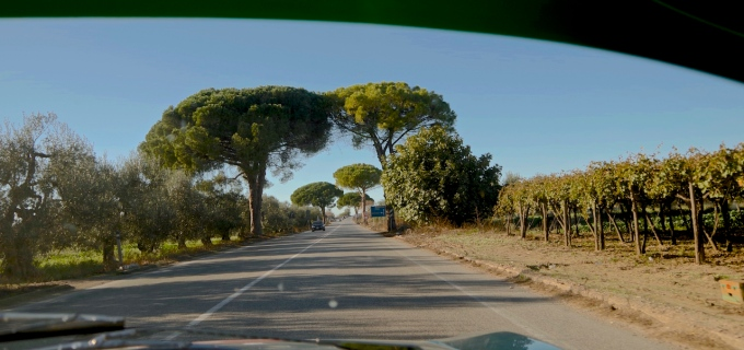 A back road along the east coast of Italy.