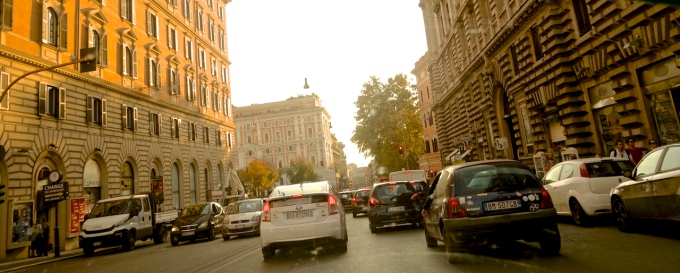 The Roman traffic.