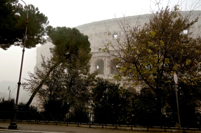A misty start to a walk around Rome.